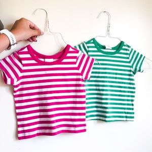 Hanna Andersson striped organic cotton tees